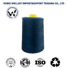 Best sale welljoy 40/2 20/3 AA grade color polyester sewing thread plastic pool