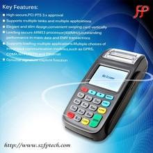 handheld wireless GPRS CDMA WIFI PSTN pos machine with NFC card reader use for restaurant