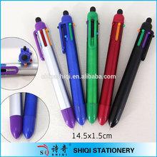 Publicité logo personnalisé 5 en 1 couleur stylo à bille tip pen