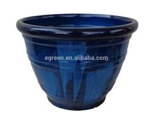 11.5 '' ceramic finished plastic planter