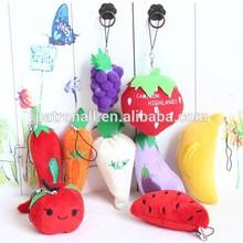 6-10cm Soft Plush Fruit Knick-Knack/Stuffed Soft 6-10 cm Lovely Fruit Toy