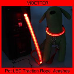 2015 custom print logo flashing led dog leash