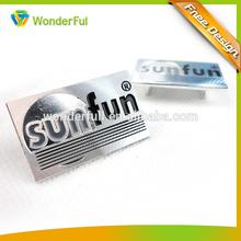 Personalized Design Logo and Promotion Cheap Aluminum Car Emblem