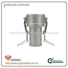 aluminum camlock coupling cam and groove