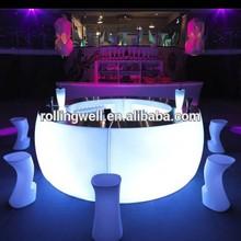 led disco bar counter/glowing furniture illuminated Led round bar /High Quality Shiny big bar , Outdoor bar Furnitures