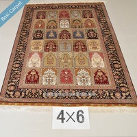 We Supply Serious 100% Silk hand knoted Prayer Carpet In China