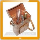 Customized handmade luxury leather wine carrier