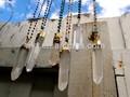 Nouveau!! Long de cristal de quartz baguette& collier chapelet