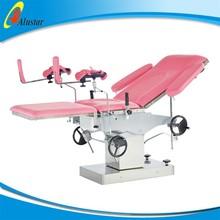ALS-OB114 Medical manual hydraulic gynaecological examination bed