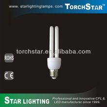 14W E27 base T4 2U CFL light bulbs