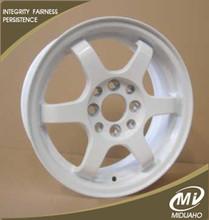 White RAYS TE37 replica alloy wheels
