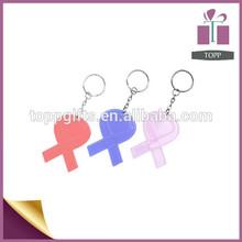 promotion piastic fashion souvenir key chain