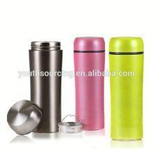 Animals style straw plastic water bottle/cute water jug/children plastic water bottle