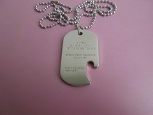 MAKEA Silver Tone Dog Tag Ball Chain Necklace with Beer Bottle Opener