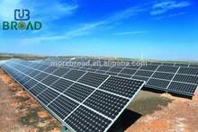 Aluminum Solar Polycrystalline Module Ground Bracket With Ground Screws Or Cement Base