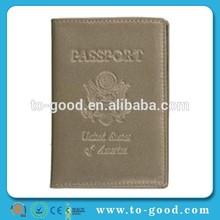China Alibaba Free Logo Imprint Wholesale Fashionable Passport Case(Grey )