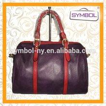Top grade best sell iron accessory decoration pu handbag