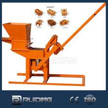 Manual interlocking clay brick machine portable clay brick making machine