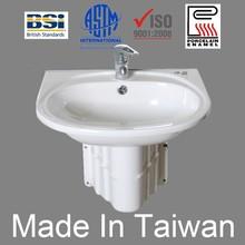 Virtually Maintenance Free 1.6mm decarbonized steel thickness Enameled Wash Basin