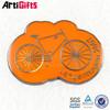 Handmade sports metal gun metal bike logo tube badge