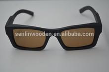2015 UV400 Custom Logo Man Woman Handmade Aviator Wayfarer Bamboo Wood Leg Sunglasses Retro Vintage Wooden Sides