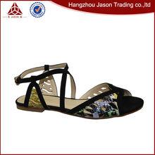 Boa qualidade vender bem 2014 nova sandálias flat sapatos de senhora