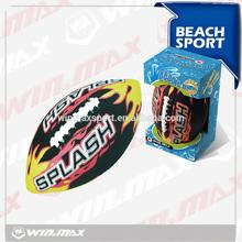 Hot sale black splash beach American football,beach waterproof football