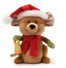 Fun Christmas Merry Mouse Sings with IC/Stuffed Plush Electronic Santa Mouse Opens Mouth to Sing