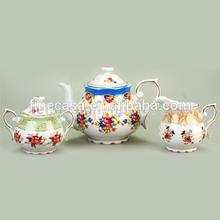 Luxury White Porcelain English Tea Pot