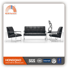 S-52 luxury stainless steel fram high quality office sofa