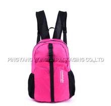 hot sale girl boy nylon traveling backpack bag school bag