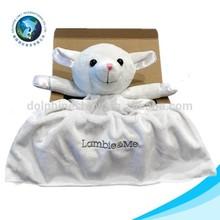 2015 custom stuffed plush sheep toy newborn cute baby blanket fabric