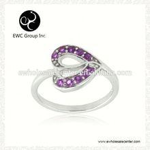 sterling silver ring zircons mens