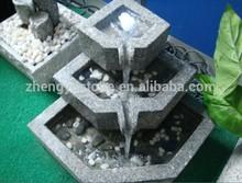 Garden Decoration Light Grey 3-Tier Granite Water Fountain