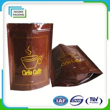 Sealing And Handle Kraft Paper Coffee Pouch