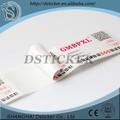 Venta superior pp/pet/removible personalizado de impresión reciclados de la etiqueta, 2014 salud alimentaria etiqueta impresa para el envasado