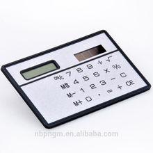 Promotional 3MM Plastic Mini Slim Card Solar Power Pocket Calculator