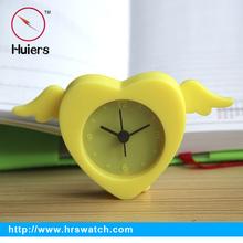 2015 cute silicone alarm clock cute table clock