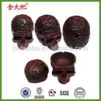 Resin Details Skull red bones gothic horror skeleton Ashtray