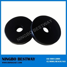 magnetic material 1 inch round black magnets