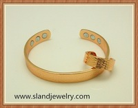 Wholesale adjustable Magnetic arthritis copper bracelet with powerful magnets