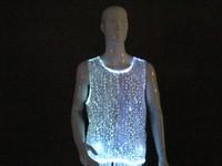 Wholesale flashing gym stringer vest for men