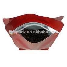 flat bottom ziplock bag aluminium foil bag pack coffee bean