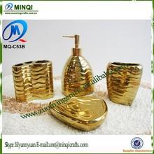 4 pcs ceramic shining soap dispenser lotion dispenser bottle