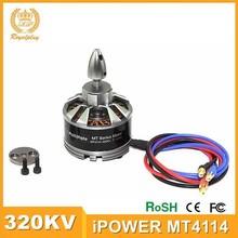 2015 meilleure qualité iPower MT4114 320KV moteur Brushless pour Multirotor Quadcopter hexacopter