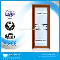 terior doors with half glass white, interior frosted glass bathroom door, sandblasting bathroom tempered glass door