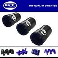 """Id=80mm( 3 1/8"""")/couleur noire/coulper/performance universelle haute température tuyau en silicone"""