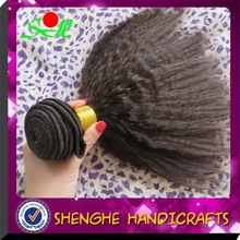 New arrival unprocessed top quality grade 100% human hair silky yaki perm weave