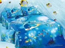 lovely animal pattern kids 205TC 100% twill cotton cartoon bedding