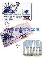 locksmith tool Bank visa card machine and door lock pick tool James bond 007, high-class locksmith needed tools